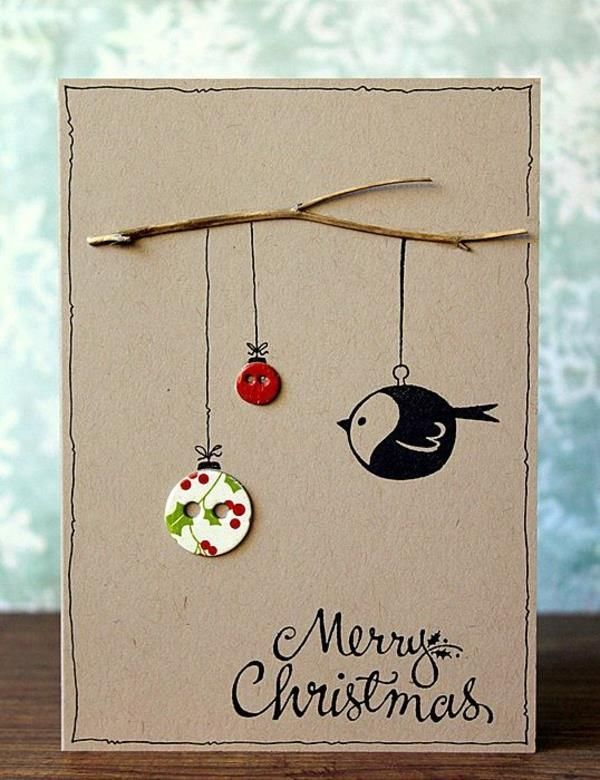 Make beautiful Christmas cards yourself - more than 100 ideas! - Archzine.net
