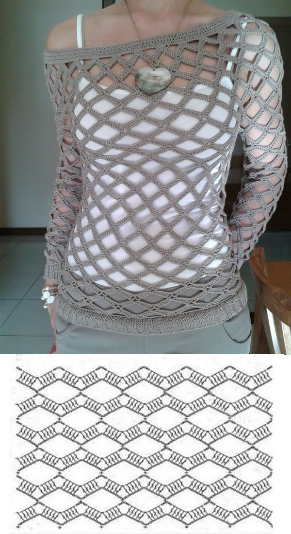 Sweater mesh crochet Más - pink blouse tops, ladies silk blouse ... #b ...