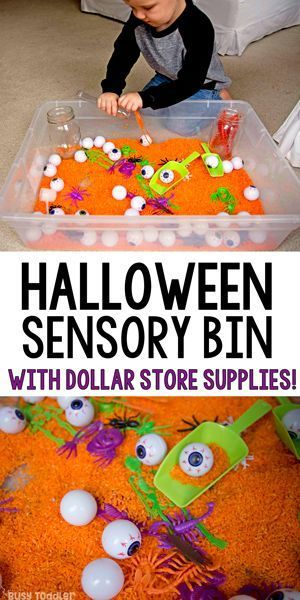 Halloween Sensory Activity: Dollar Store Bin