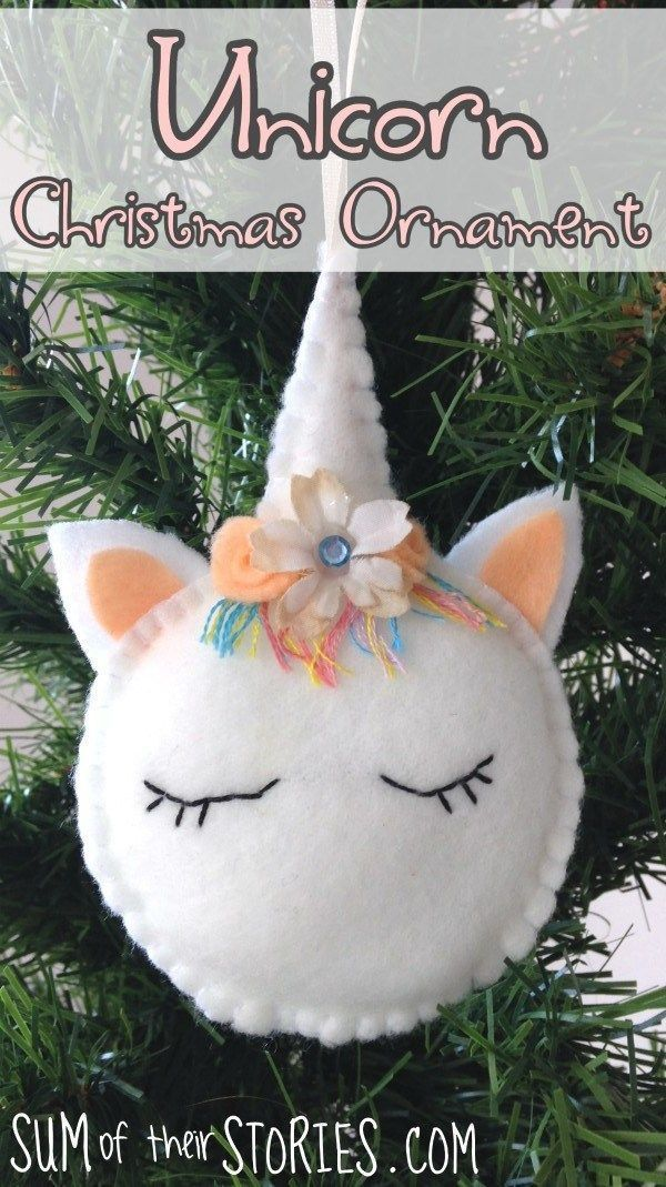 Tutorial and pattern: Felt unicorn Christmas ornament #ArtsandCrafts