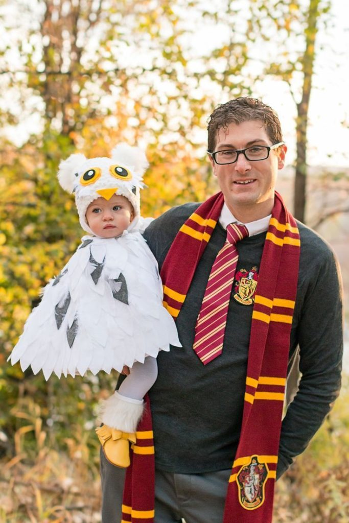 The Arbitrary Fox : Halloween 2017: Harry Potter Themed, Harry and Hedwig, Famil...