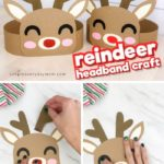 This reindeer headband is a fun Christmas craft for kids! It comes with a free printable temp...
