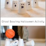 Simple ghost bowling Halloween activity for kids #halloween #halloweenactivities...