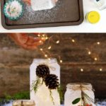 5 Minute DIY Snow Frosted Mason Jar Decorations {Magical!}