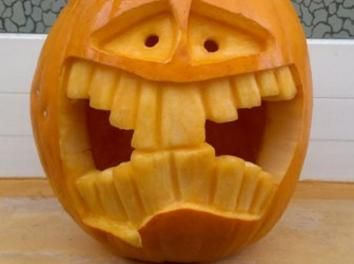 #Halloween # Pumpkin in a class. You can find helpful tips on www.1-2-do ...