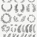 CLIP ART: Whimsical Laurels & Wreaths // Photoshop Brushes //, #kranze #lorb ...
