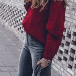 Fall 2017 Fashion Trends Women, Red, Inspiration, Outfits, Street Style Autumn W...