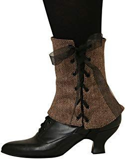 Historical Emporium Women's Steampunk Reversible Tweed Spats * Learn more by vis...