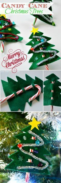 Tis the season for all sorts of fun! These easy Candy Cane Christmas Trees are a
