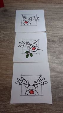 You need two cards. Handmade cards are an amazing tool .....