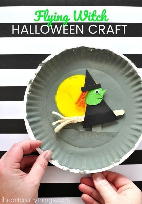 This playful paper plate Halloween craft makes a fantastic ... #di ...