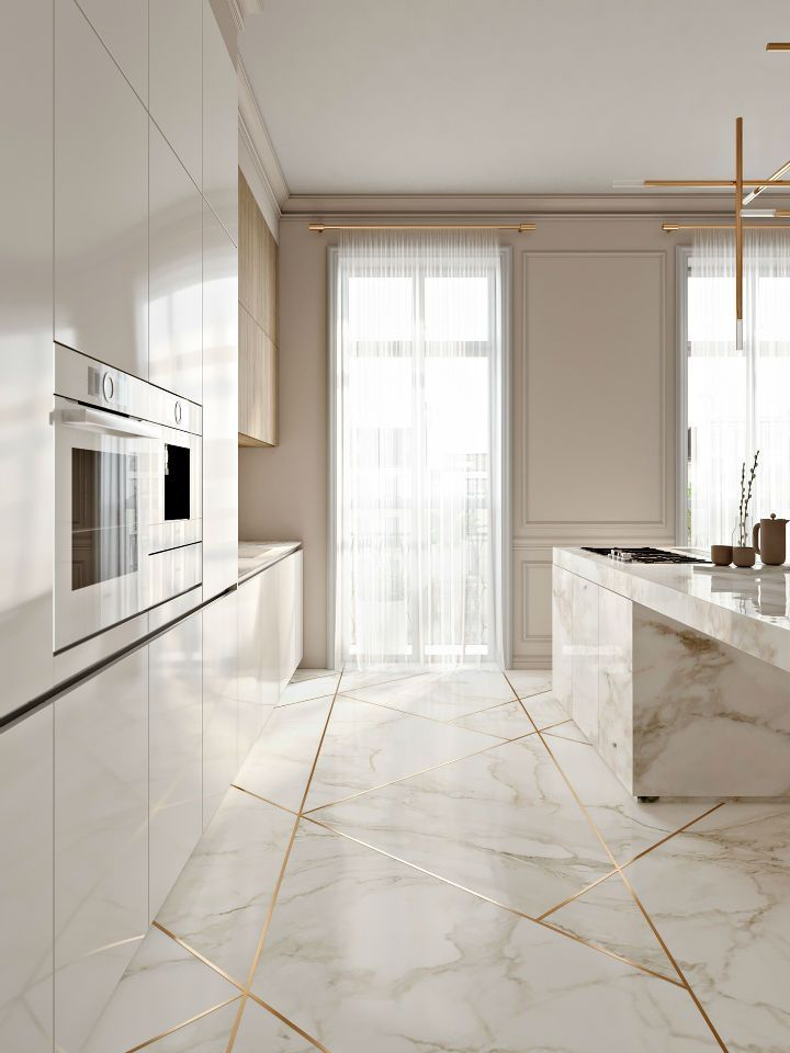 Stunning Elegant Kitchen Touched With Gold