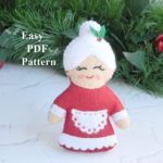 Mrs Claus Pattern Felt christmas ornament pattern PDF Plush