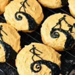 The Nightmare Before Christmas Pumpkin Cookies. FUN cookies to serve for Hallowe...