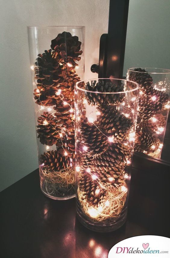 Christmas decoration with pine cones - Wonderful DIY craft ideas