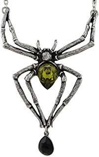 Emerald Venom Spider Necklace with Swarovski Crystals *** Read more at the image...