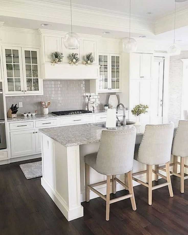 35 The Best White Kitchen Cabinet Design Ideas To Improve Your Kitchen - Trendeh...