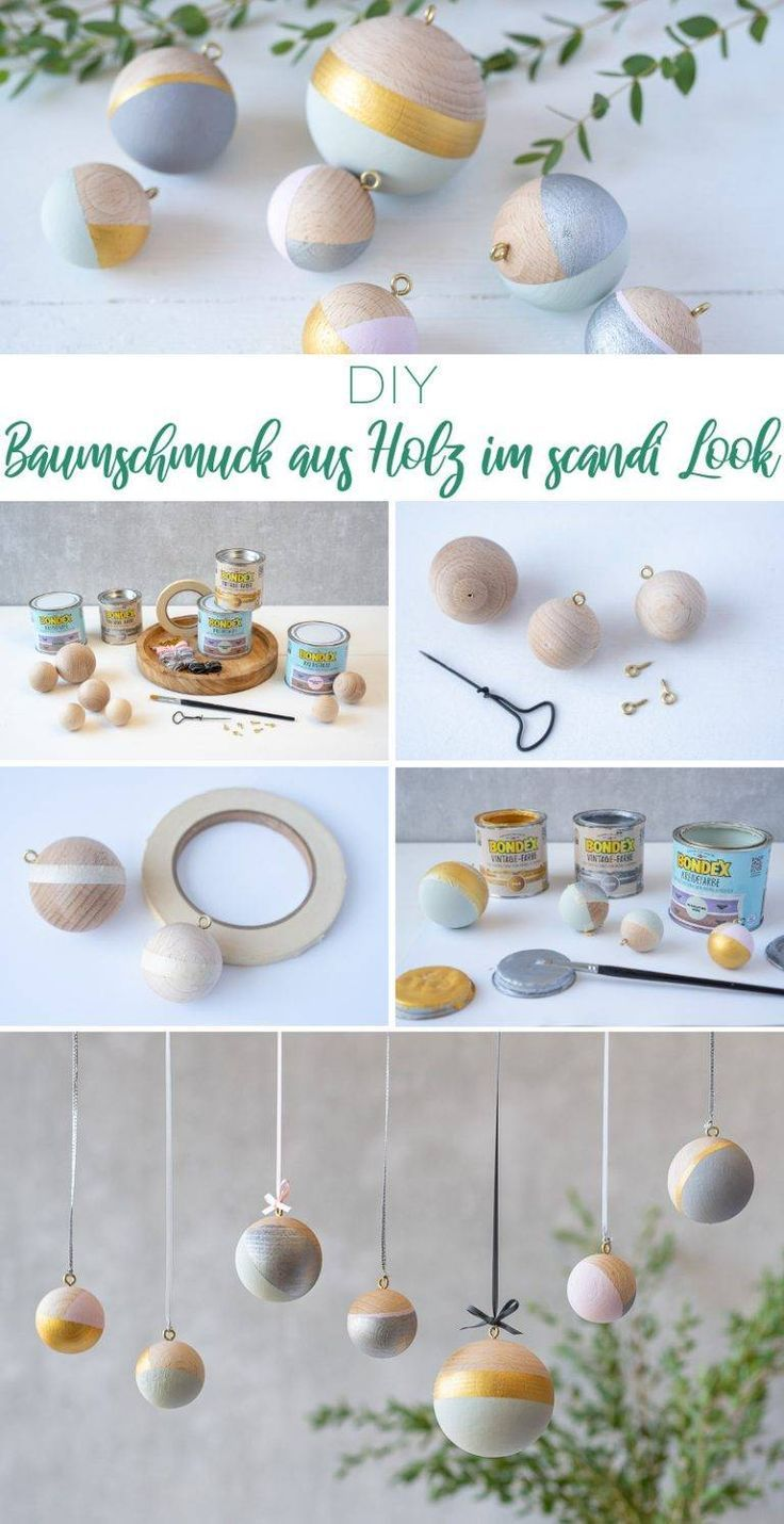 Three wooden DIY projects for your Christmas decoration in a scandi look