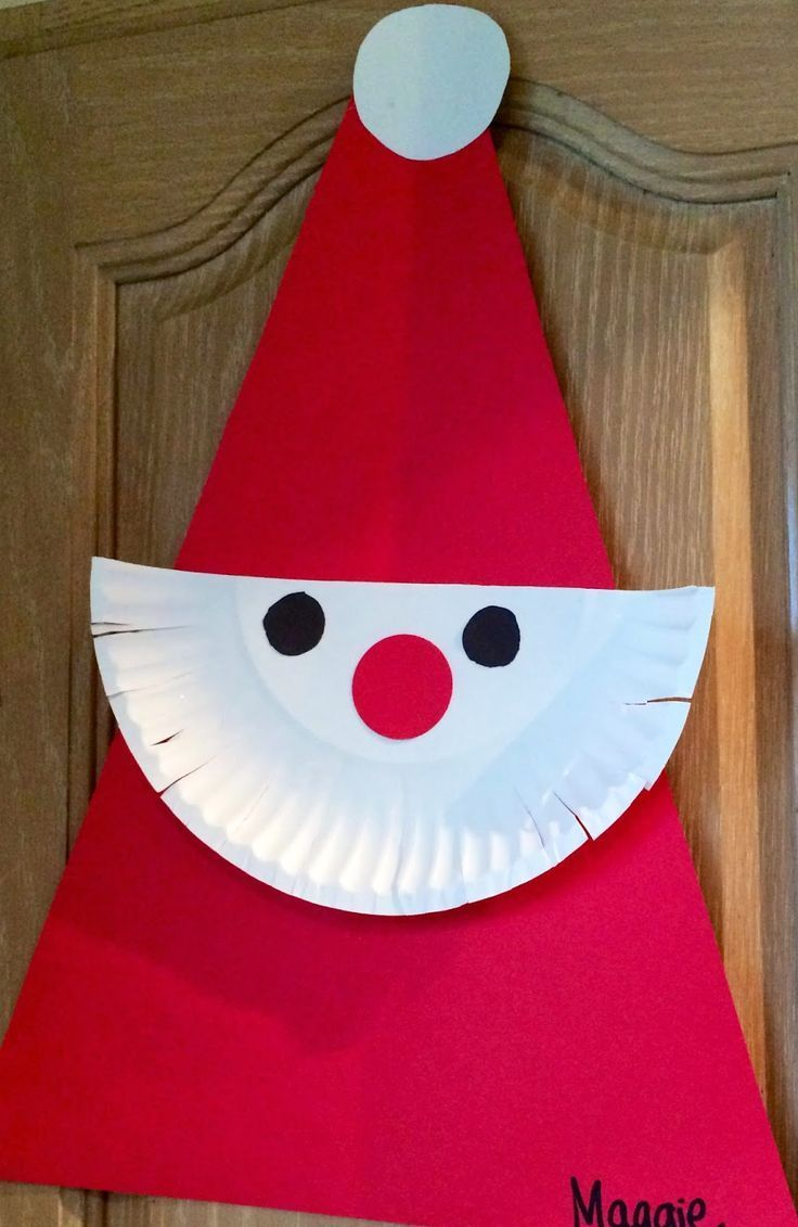 Paper plate Santa || 15 Christmas arts for children