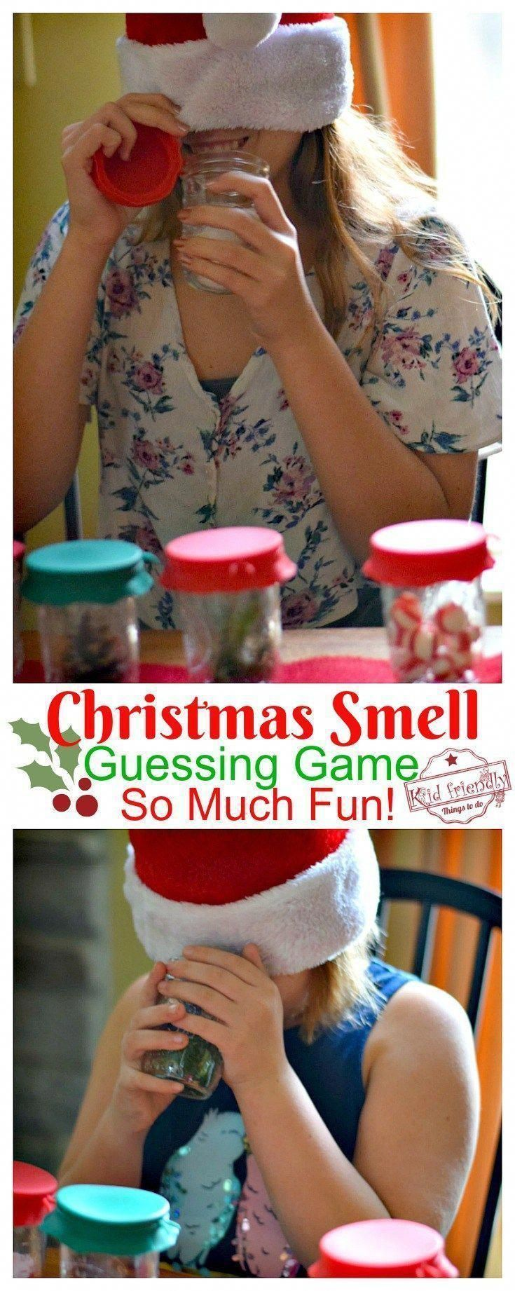 Guess that Smell Christmas Game for the Whole Family to Play!