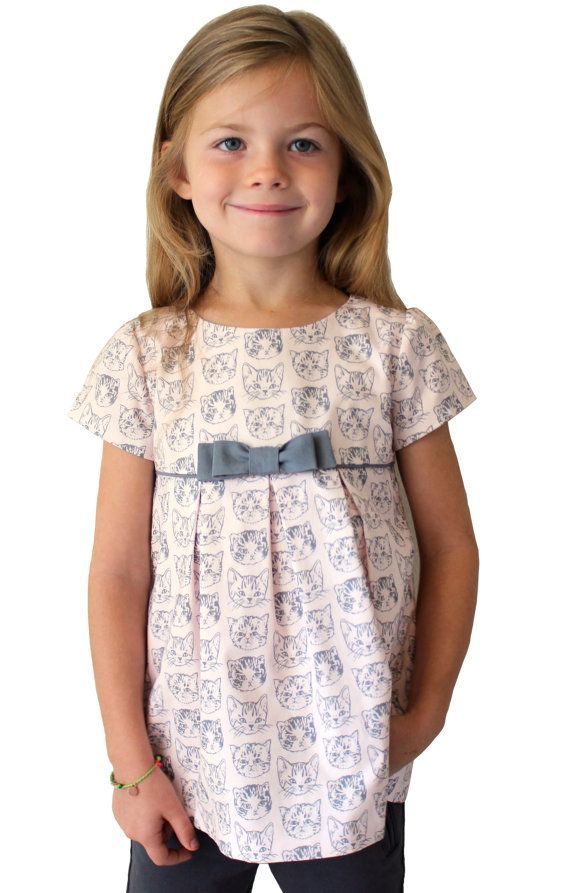 Digital DRESS and BLOUSE PATTERN FOR GIRLS-- The Mia and Moi Pattern  -pattern i...
