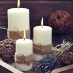 Simple #Christmas #Candles #Decoration #; #Table #decorations;