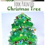 Fork painted Christmas tree - #christmas #fork #painted #Christmas tree