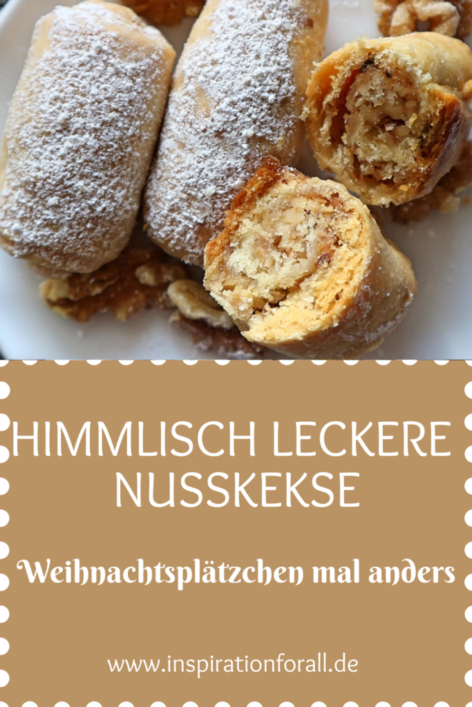 """""""Barmak"""" - simple recipe for delicious biscuits with walnut filling"""