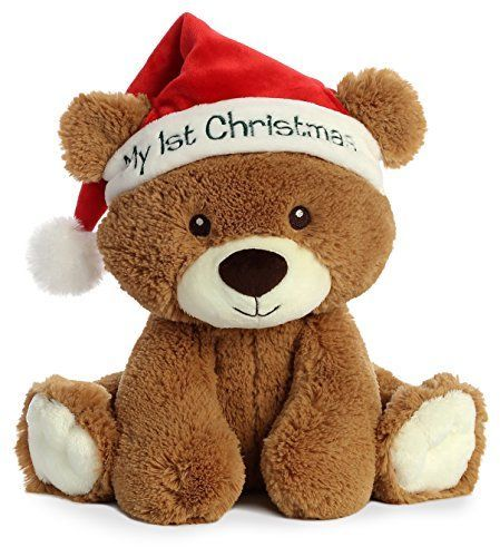 "Aurora World  10"" My First Christmas Bear, Brown, Red, Wh... www.amazon.com/..."