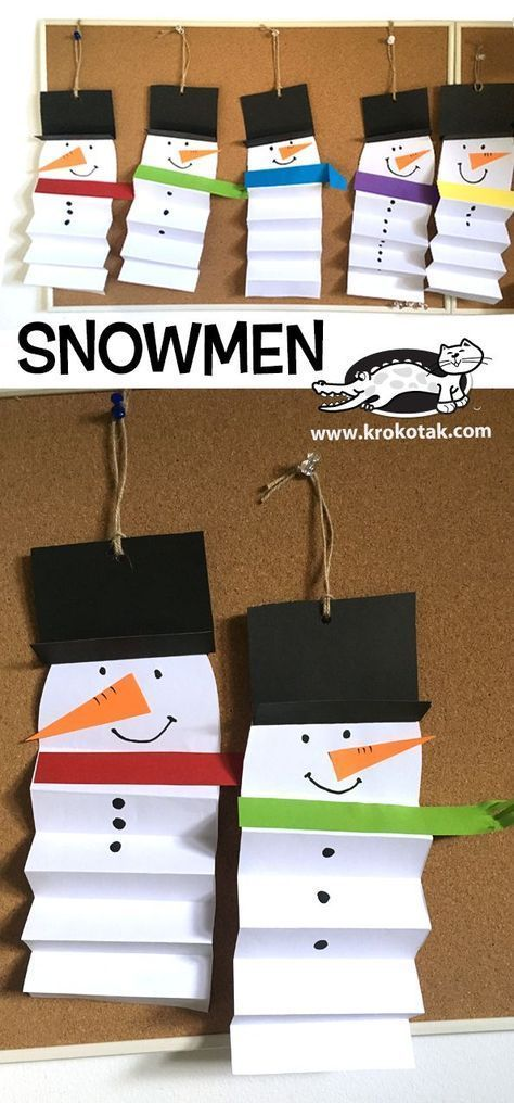 Snowman Paper Kids Crafts - #crafts #snowman #kidscraft #craftskids - #Cr ...