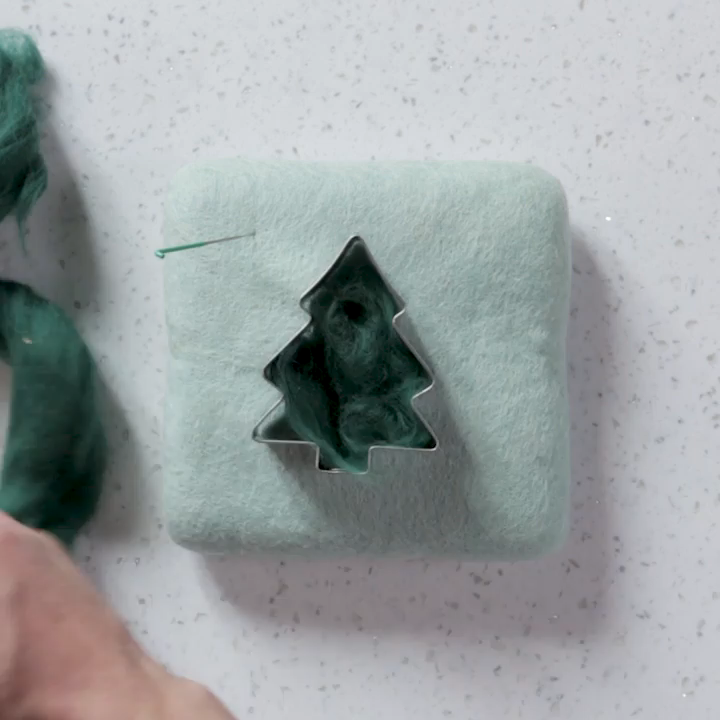 Felted Cookie Cutter Christmas Ornaments