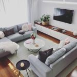 Scandinavian ideas; gray living room; cozy living room decor; modern ...