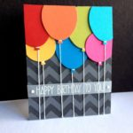 handmade birthday card from Im in Haven ... Penny Black balloon died cut in brig...