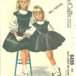 1960s McCalls 6499 Girls Jumper and Blouse Pattern HELEN LEE Childs Vintage Sewing Pattern Si...