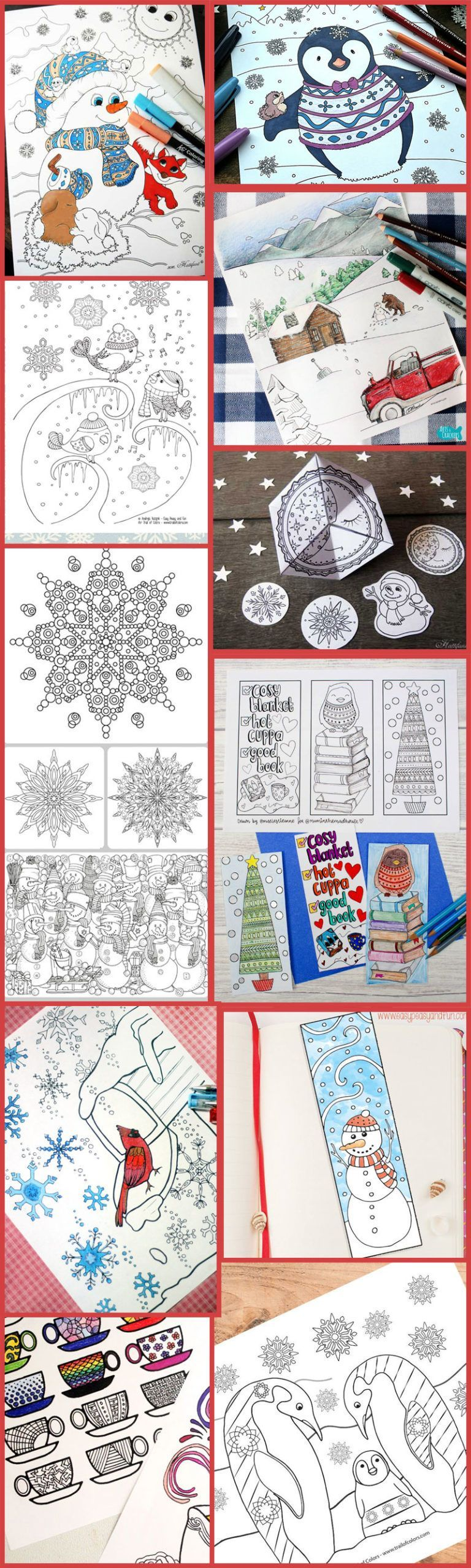 Winter Coloring Pages for Grown-ups!