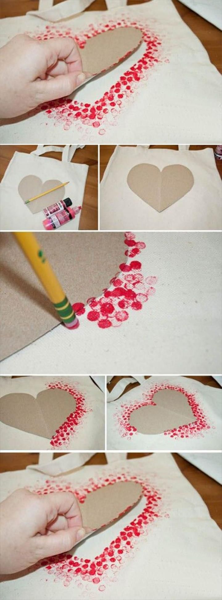 DIY Cards for Kids – Polka Dot Heart Card - 38 DIY Motherday Gifts – Easy To...