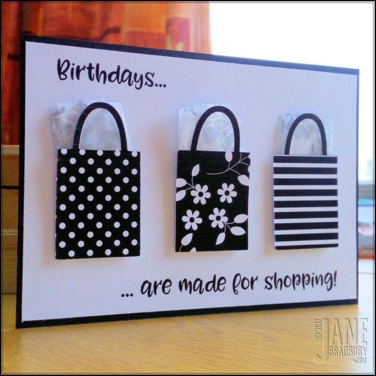 Birthdays are for shopping Making handmade cards is easy #simple ...