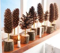 Christmas decorations tinker with pine cones - DIY craft ideas - pine cones decoration