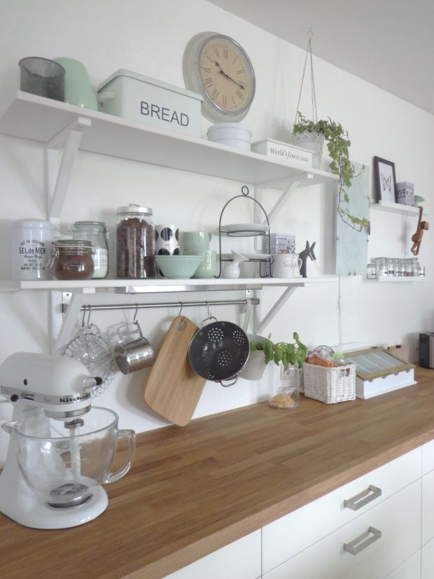 Kitchen with new mint-colored porcelain, tags oak, ikea, mint, white, asa, kitchen ...
