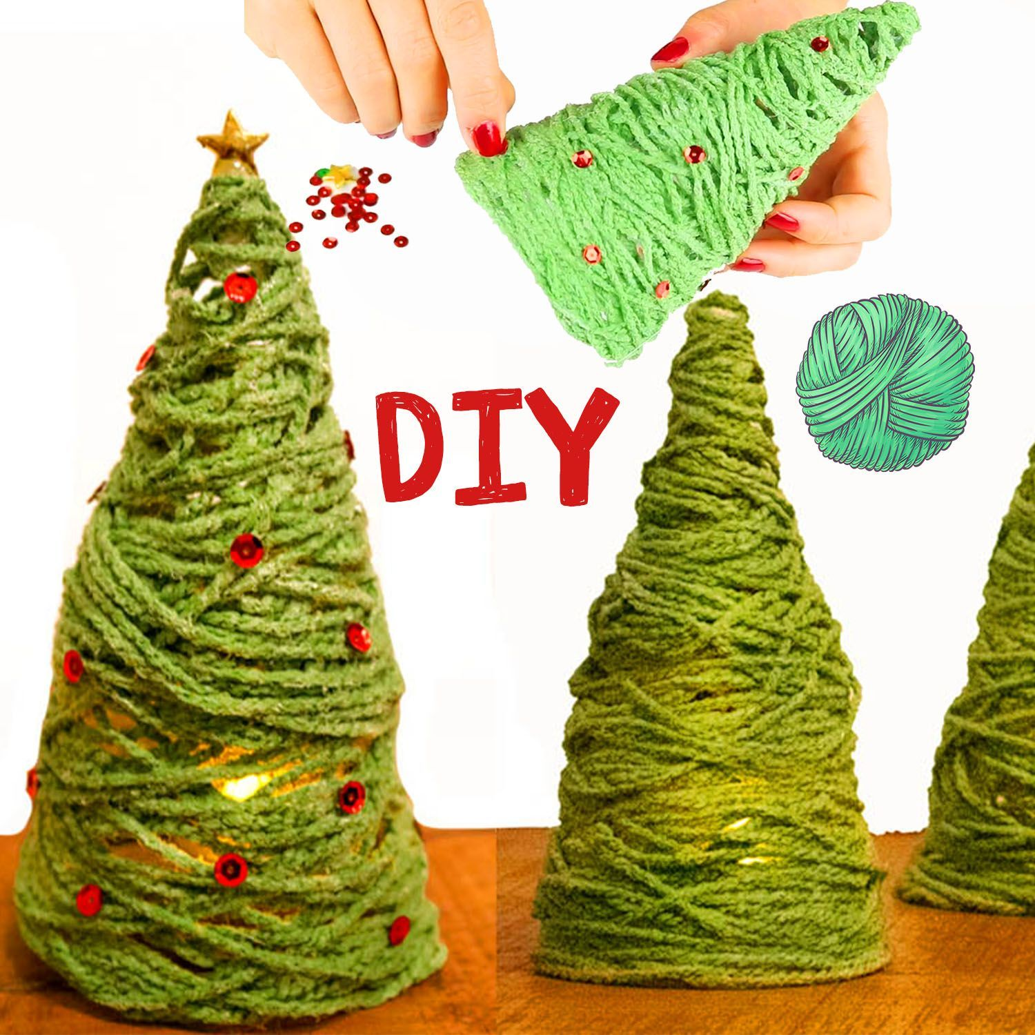 🎄Crafting a Christmas tree out of wool 🎄 DIY for children - simple crafting instructions for Christmas