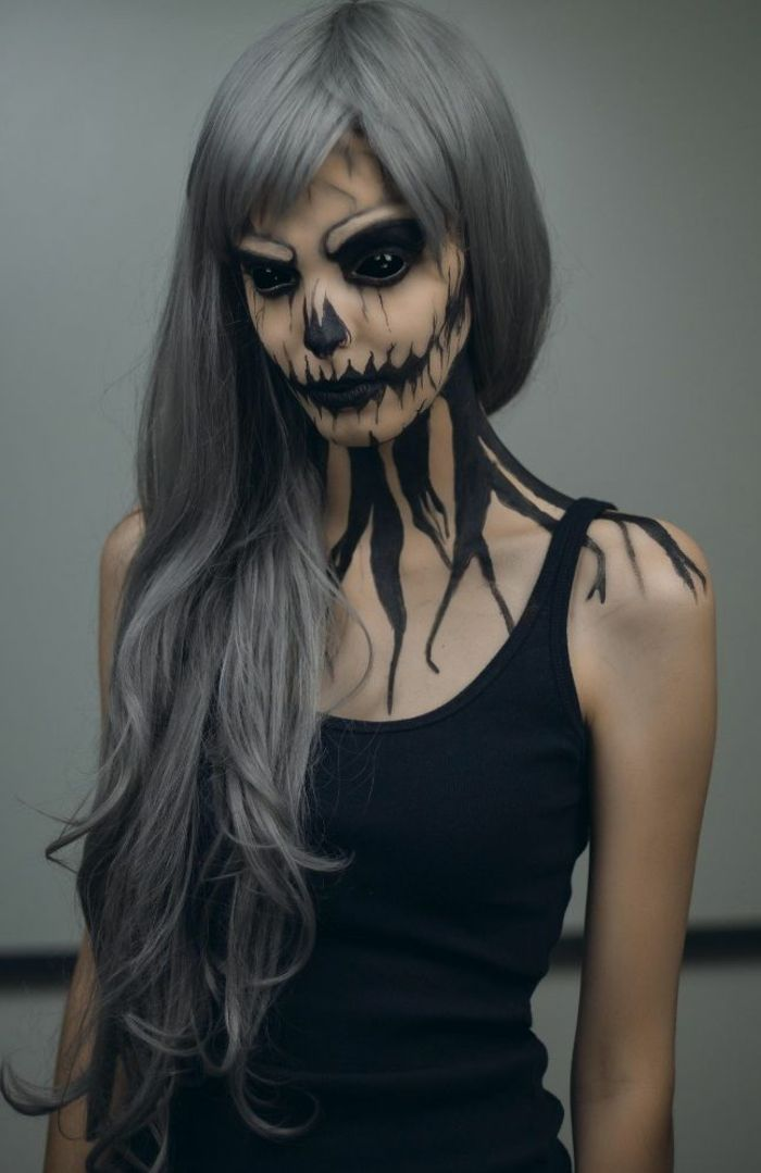 halloween make-up for women make-up black witch