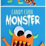 Scary Candy Corn Monster Craft #Halloween craft for kids to make! #DIY | CraftyM...
