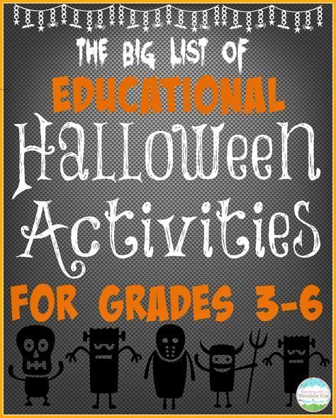 Teaching With a Mountain View: Educational Halloween Activities for the BIG KIDS...