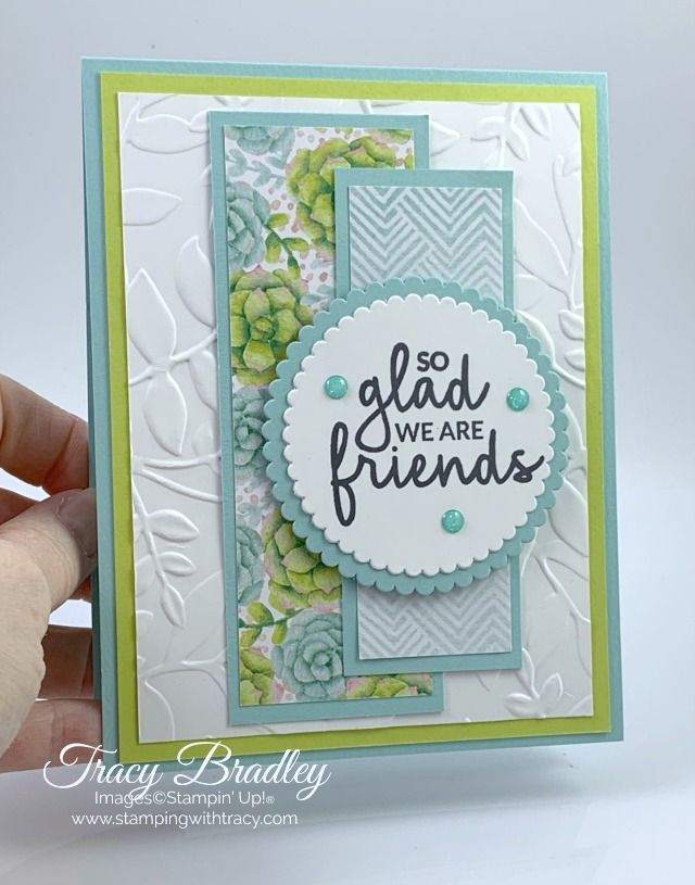 Handmade card featuring the stamp set Incredible Like You and the limited time o...