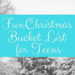 Fun Christmas bucket list for teens