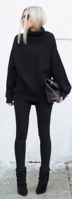 I love the whole black outfit look - very classy. maybe add a ...