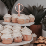 Apple and cinnamon cupcakes with mascarpone frosting