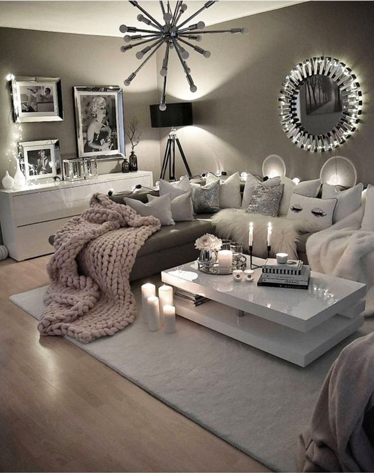 Neutral gray living room - love these colors for my living room! #Wohnzi ...