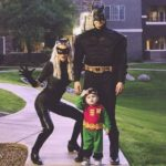 Bat man couple Halloween costume