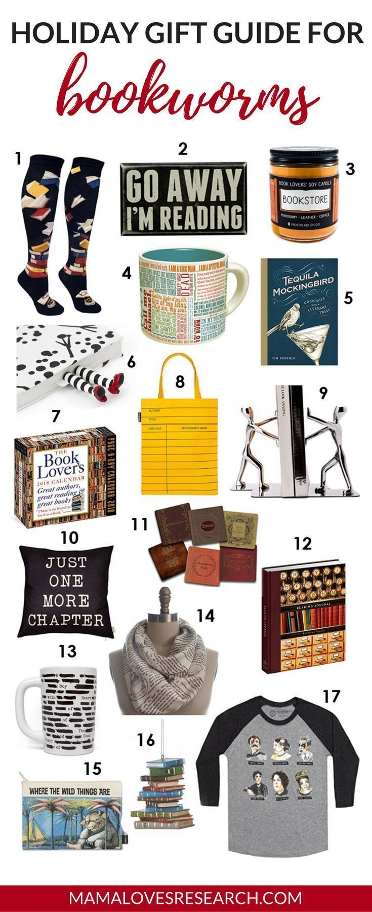Holiday Gift Guide for Bookworms  Mama Loves Research#Gift#Ideas#GirlFriend